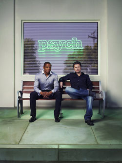 "Dule Hill as Burton ""Gus"" Guster and James Roday as Shawn Spencer in 'Psych'"