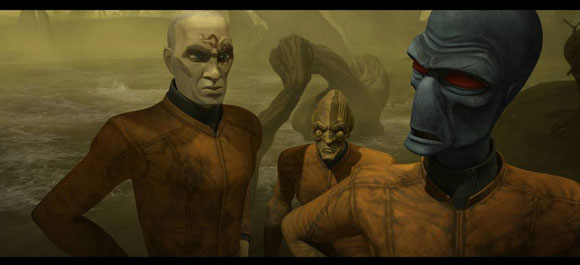 "A scene from Star Wars: The Clone Wars ""Friends and Enemies"" Episode - © Lucasfilm Ltd"