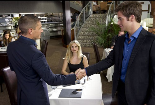 Tom Hardy, Reese Witherspoon and Chris Pine in This Means War