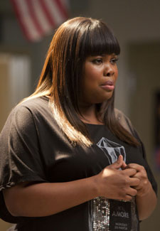 "Mercedes (Amber Riley) sings a love song in the ""Heart"" episode of GLEE aired on Tuesday, Feb. 14 (8:00-9:00 PM ET/PT) on FOX"
