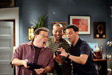 Wayne Knight, Donald Faison, and David Alan Basche in 'The Exes'