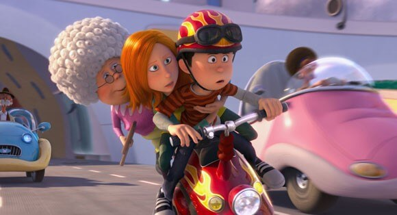 Grammy, Audrey and Ted in 'The Lorax'