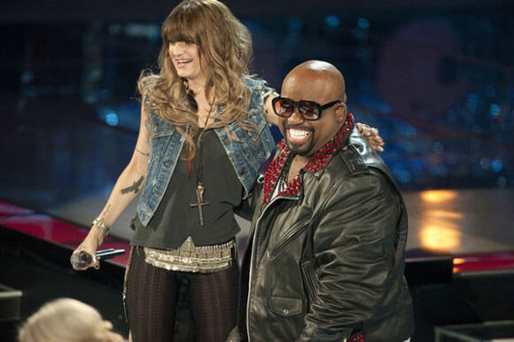 Juliet Simms and Cee Lo Green on 'The Voice' season 2 premiere
