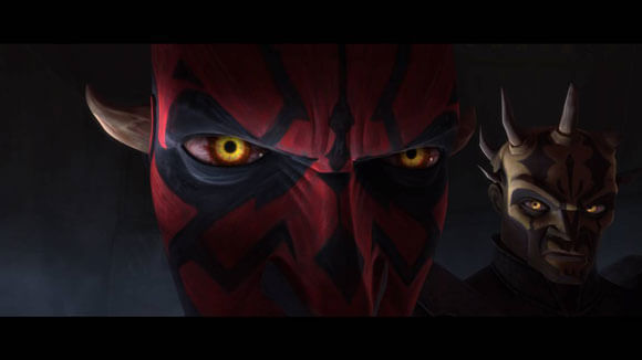 A scene from 'Star Wars: The Clone Wars