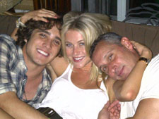 Diego Boneta, Julianne Hough and director Adam Shankman on the set of 'Rock of Ages'