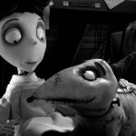 Victor and Sparky in a scene from 'Frankenweenie'