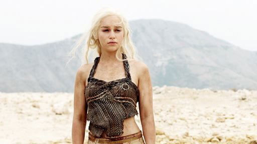 Daenerys Targaryen played by Emilia Clarke in 'Game of Thrones'