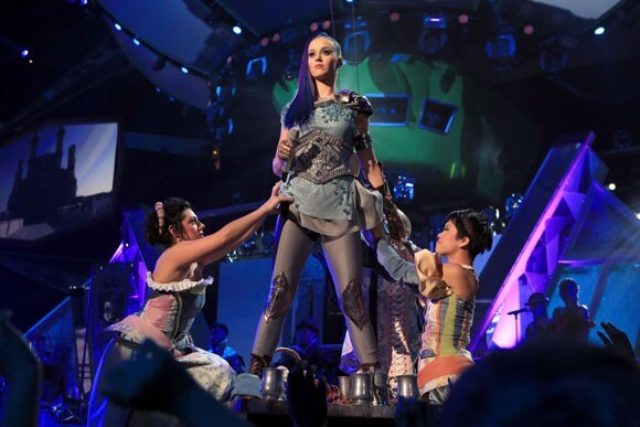 Katy Perry performs at the Nickelodeon's 25th Annual Kids' Choice Awards