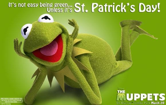 Kermit St Patrick's Day Poster