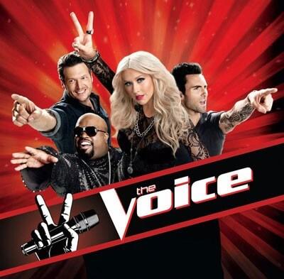 Blake Shelton, Cee Lo Green, Christina Aguilera, and Adam Levine