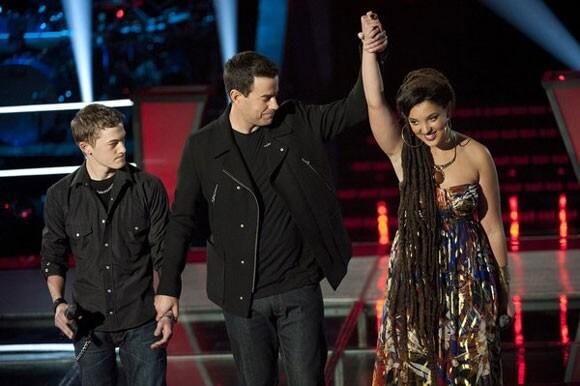 Jordan Rager, Carson Daly, and Naia Kete on The Voice Season 2