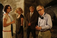 Woody Allen on the set of 'Midnight in Paris'