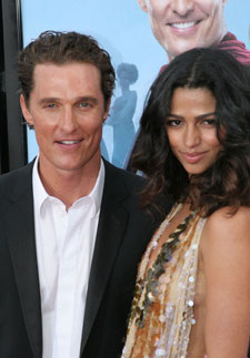 Matthew McConaughey and Camila Alves at the 'Ghosts of Girlfriends Past' Premiere