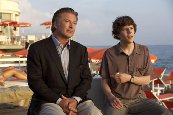 Alec Baldwin and Jesse Eisenberg in 'To Rome with Love'