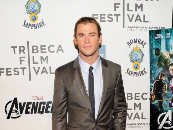 Chris Hemsworth from The Avengers at the Tribeca Film Festival