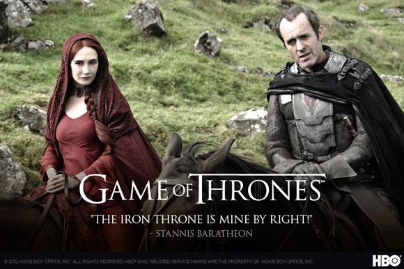 Game of Thrones Season 2 Stannis Baratheon Poster