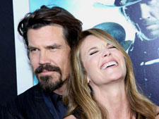 Josh Brolin and Diane Lane at the premiere of 'Jonah Hex'