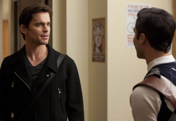 Matt Bomer and Darren Criss in Glee