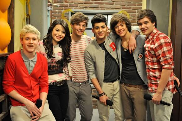 Miranda Cosgrove and One Direction on iCarly