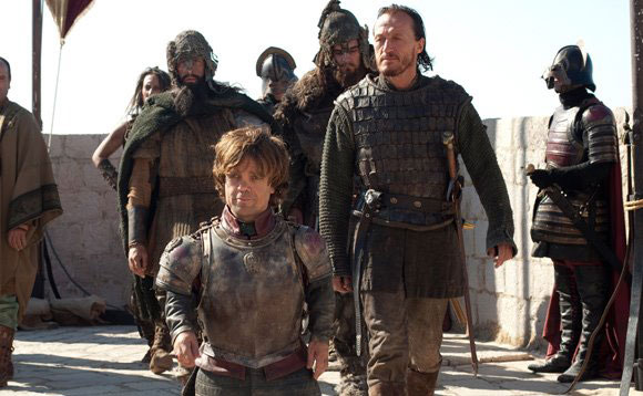 Peter Dinklage and Jerome Flynn in Game of Thrones