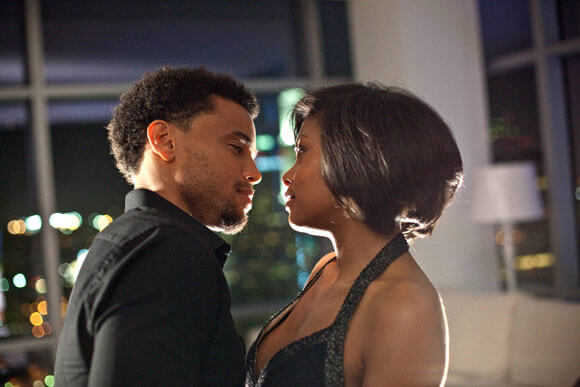 Michael Ealy and Taraji P Henson in 'Think Like a Man'