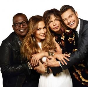 Randy Jackson, Jennifer Lopez, Steven Tyler and Ryan Seacrest from American Idol season 11.