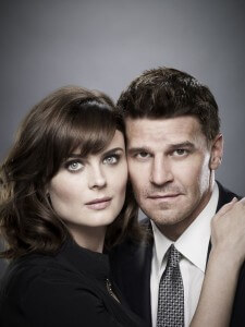 Emily Deschanel and David Boreanaz in Bones