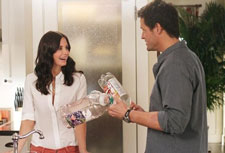 Courteney Cox and Josh Hopkins in Cougar Town