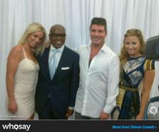 Britney Spears, LA Reid, Simon Cowell and Demi Lovato
