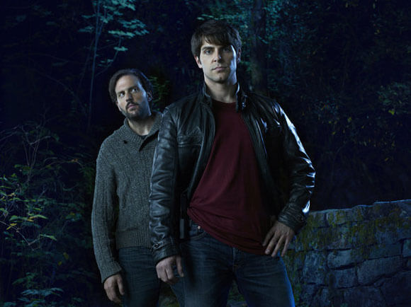Silas Weir Mitchell as Monroe and David Giuntoli as Nick Burkhardt in 'Grimm'