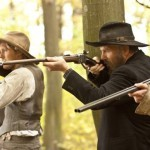 Matt Barr and Kevin Costner in 'Hatfields & McCoys'