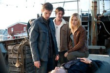 Lucas Bryant, Eric Balfour, and Emily Rose in Haven