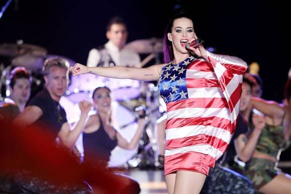 """Katy Perry during the """"Katy Perry: Part of Me"""" performance for Pepsi's Fleet Week"""