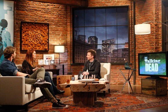 Jon Heder, Felicia Day and Chris Hardwick on Talking Dead