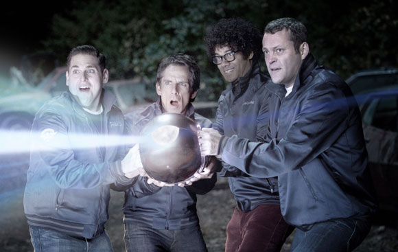 Jonah Hill, Ben Stiller, Richard Ayoade and Vince Vaughn in 'The Watch'