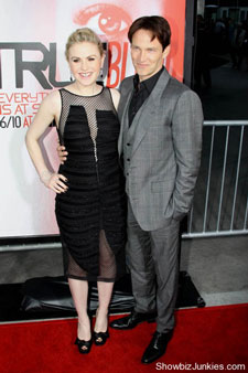 Anna Paquin and Stephen Moyer at the premiere of HBO's fifth season of True Blood.