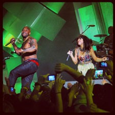 Flo Rida and Carly Rae Jepsen at the 2012 MuchMusic Awards