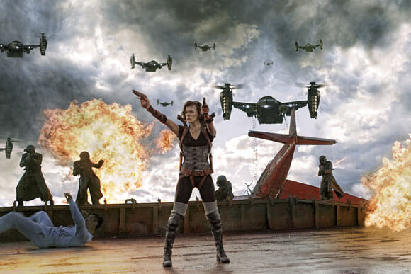 Milla Jovovich stars in Screen Gems' action horror RESIDENT EVIL: RETRIBUTION