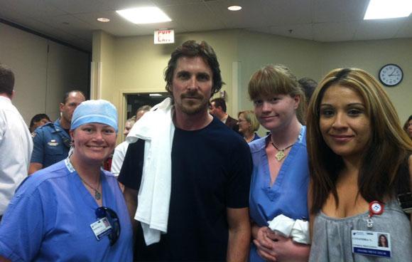 Christian Bale Visits Colorado Shooting Victims
