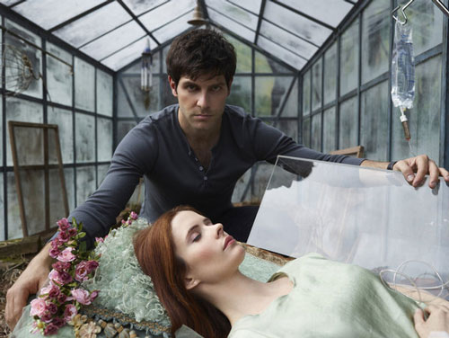 David Giuntoli as Nick Burkhardt, Bitsie Tulloch as Juliette Silverton in 'Grimm'