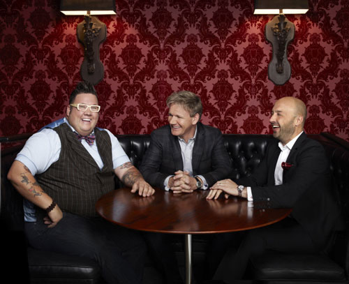 Chefs Gordon Ramsay, Joe Bastianich and Graham Elliot