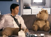 Mark Wahlberg and Ted in a scene from Ted.