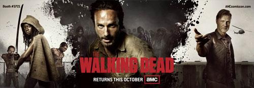 The Walking Dead Comic Con Banner