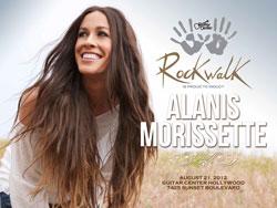 Alanis Morissette RockWalk Inductee