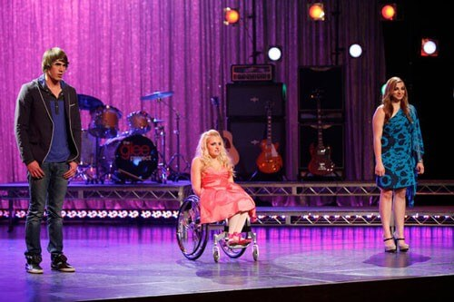 Blake Jenner, Ali Stroker, and Aylin Bayramoglu from The Glee Project