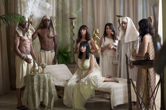 Lindsay Lohan as Elizabeth Taylor in 'Cleopatra' in Lifetime's 'Liz & Dick'
