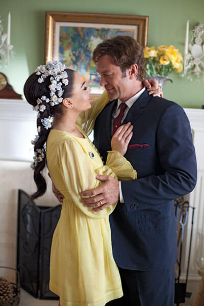 "Lindsay Lohan (""Elizabeth Taylor"") and Grant Bowler (""Richard Burton"") in Liz & Dick"