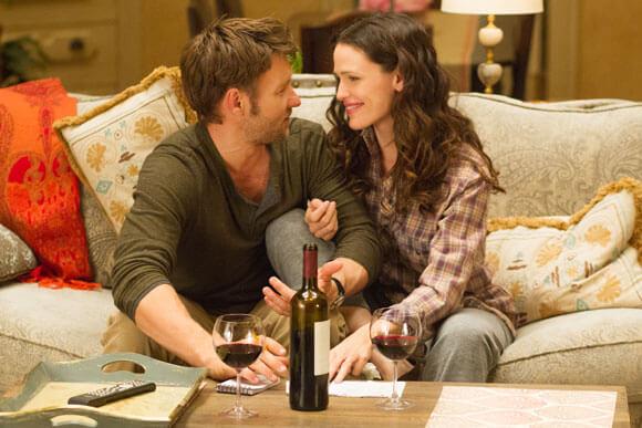 Joel Edgerton and Jennifer Garner in The Odd Life of Timothy Green.