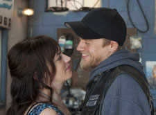 Maggie Siff and Charlie Hunnam in Sons of Anarchy