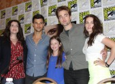 Stephenie Meyer, Taylor Lautner, Robert Pattinson, and Kristen Stewart